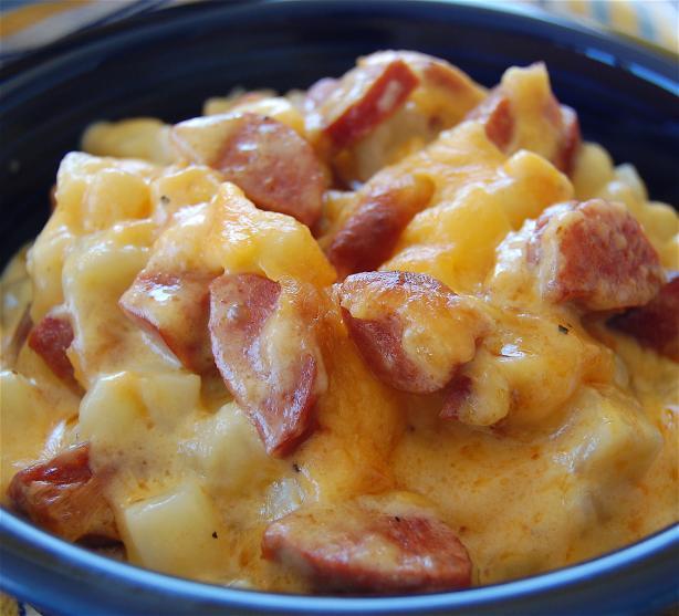 Jolean's Cheese Potato & Smoked Sausage Casserole