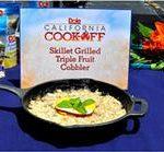 Skillet Grilled Triple Fruit Cobbler