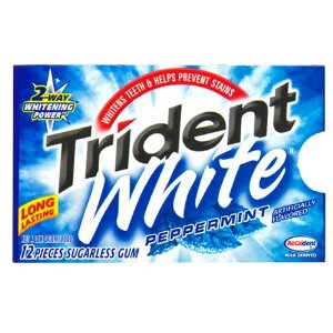 Trident White Gum, $.50 Per Package + Free Shipping