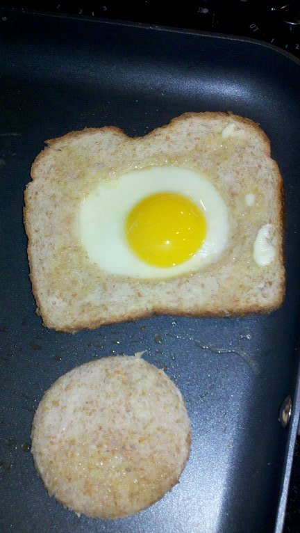 Egg-in-the-Hole for Breakfast - Clever Housewife