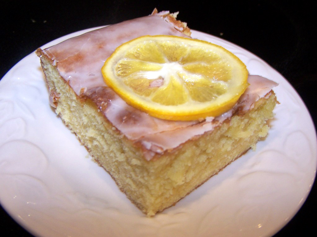 Lemon Poke Cake Recipe (from scratch)