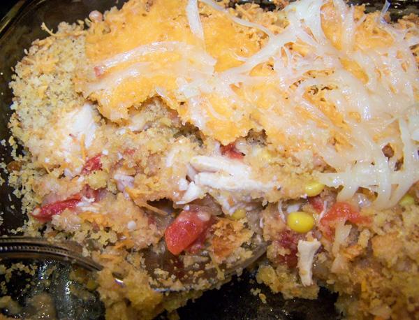 Santa Fe Chicken & Stuffing Casserole