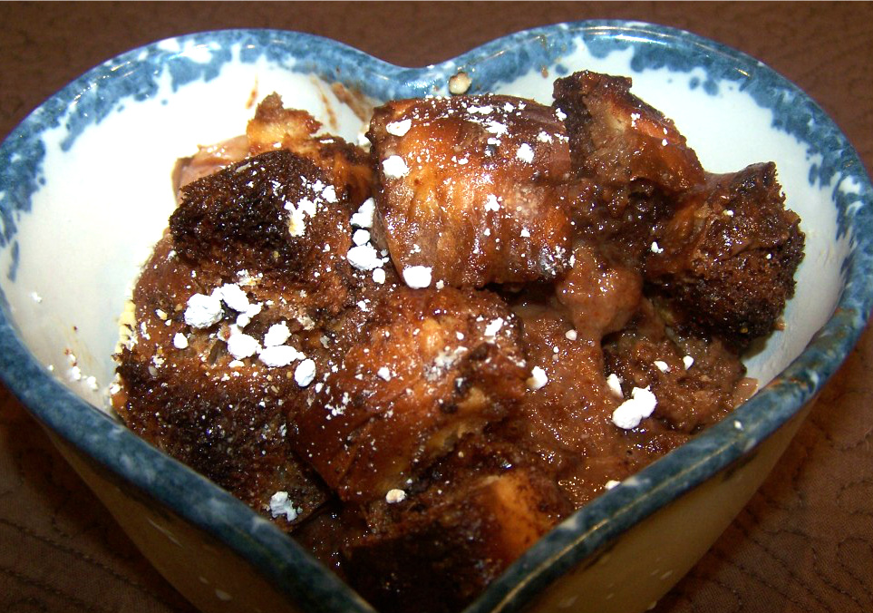Ancho Chili Chocolate Bread Pudding - Clever Housewife
