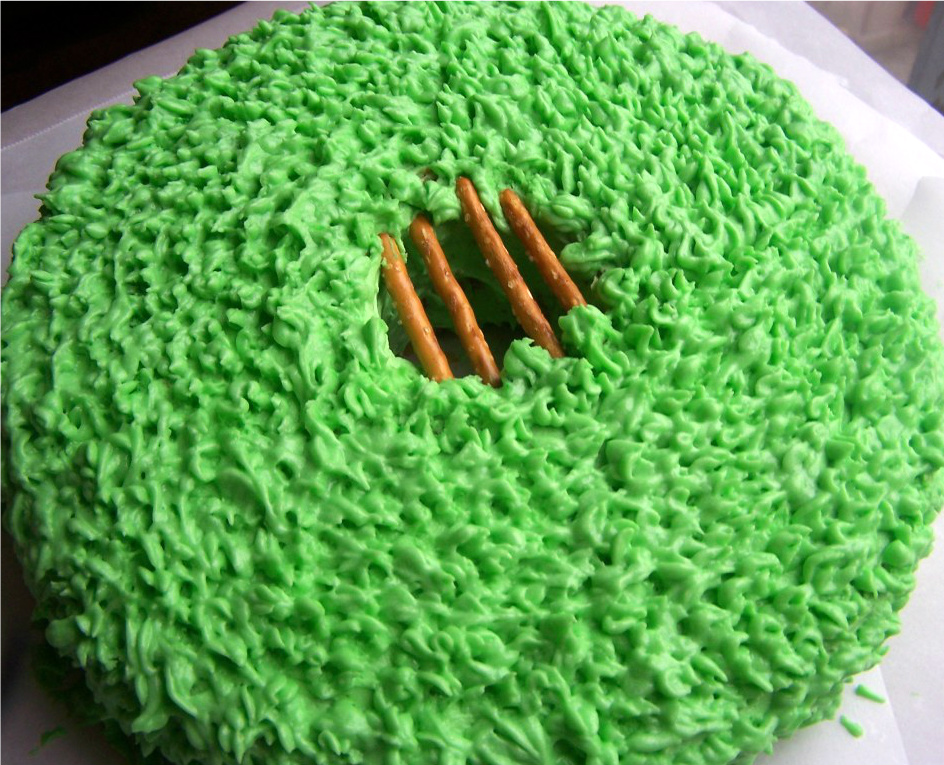 Cake Decorating Tips To Make Grass : St. Patrick s Day Leprechaun Trap Cake - Clever Housewife