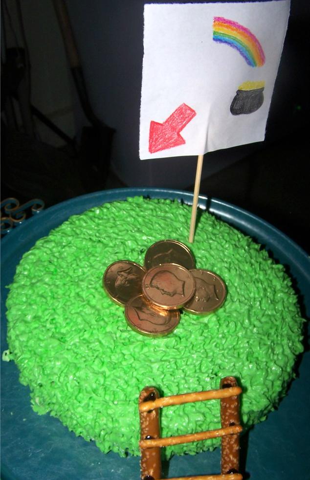 Leprechaun Trap Cake for St. Patrick's Day