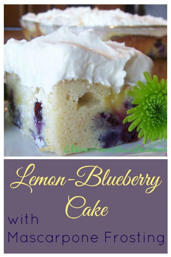 Lemon-Blueberry Cake with a Lemon Mascarpone Frosting - talk about a fancy cake you can make from home!