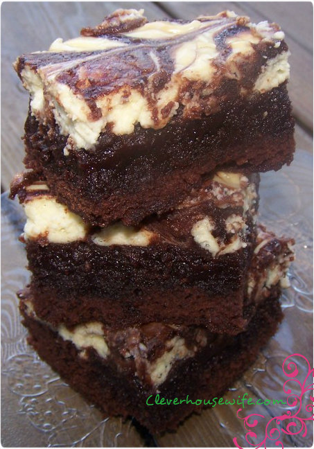 Cream Cheese Brownies - Clever Housewife