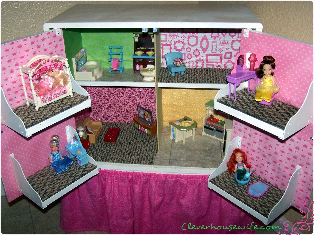 diy dollhouse from repurposed furniture clever housewife build dollhouse furniture