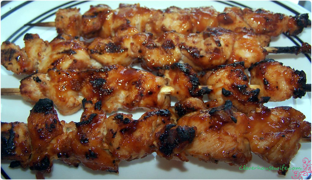 Bacon Coated Barbecue Chicken Kebabs - Clever Housewife