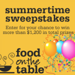 food on the table sweepstakes