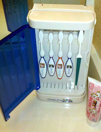 Oraline Toothbrush Sanitizer Easy For Kids To Use