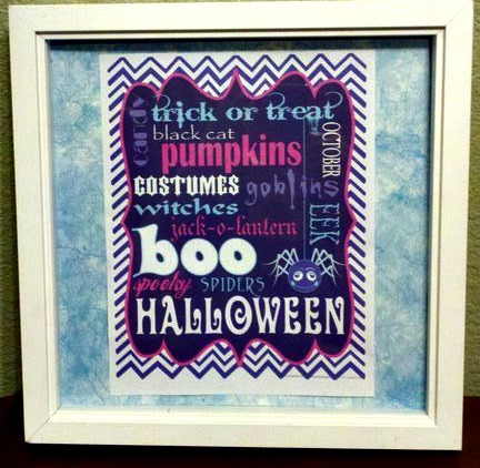 Inexpensive Halloween Mantle Idea