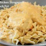 Cheesy chicken stroganoff