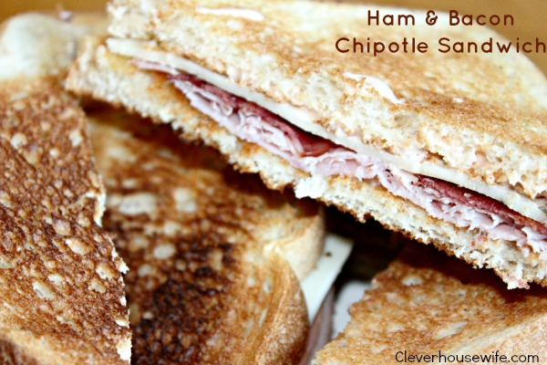 Ham and Bacon Chipotle Sandwich on Wonder Smartwhite Bread