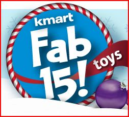 Kmart Fab 15 Toy List + Lego Giveaway
