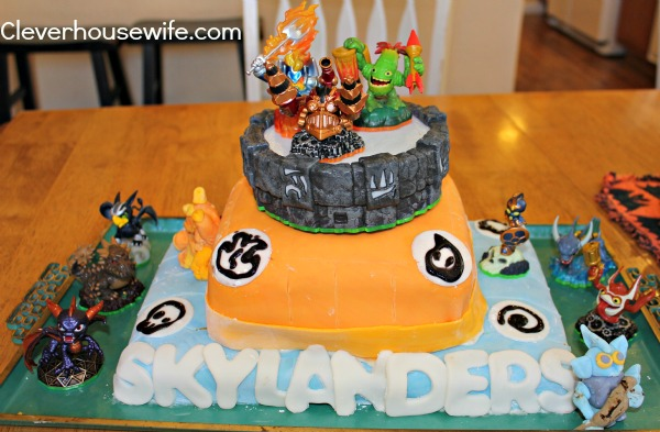 Skylanders Cake For Twins' 7th Birthday