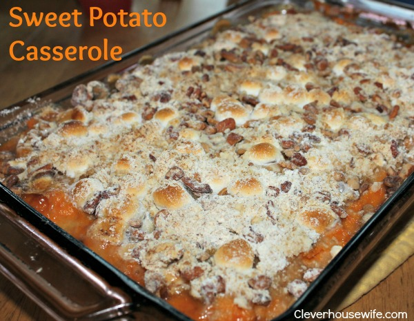Sweet Potato Casserole (My Fave!)