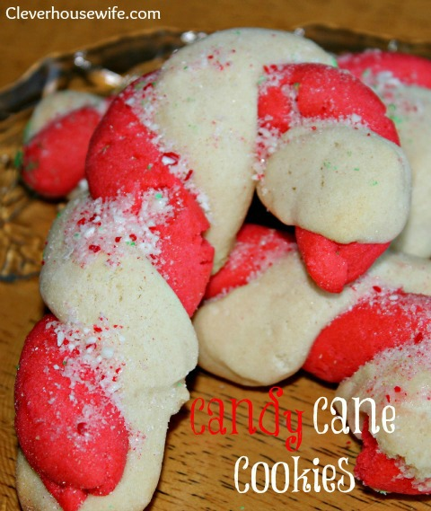 Candy Cane Cookies - Clever Housewife