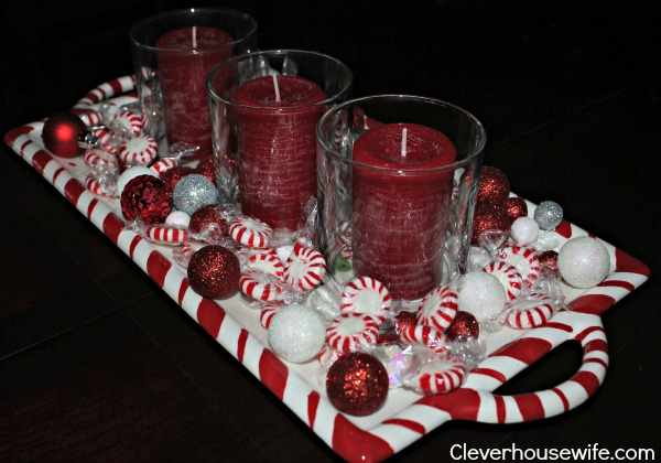 Easy, Affordable Christmas Centerpiece