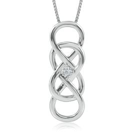Helzberg Diamonds INFINITY X INFINITY™ Diamond Pendant In Sterling Silver