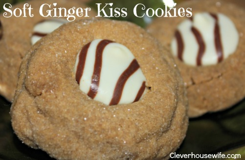 Soft Ginger Kiss Cookies - Clever Housewife