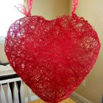 heart craft out of string