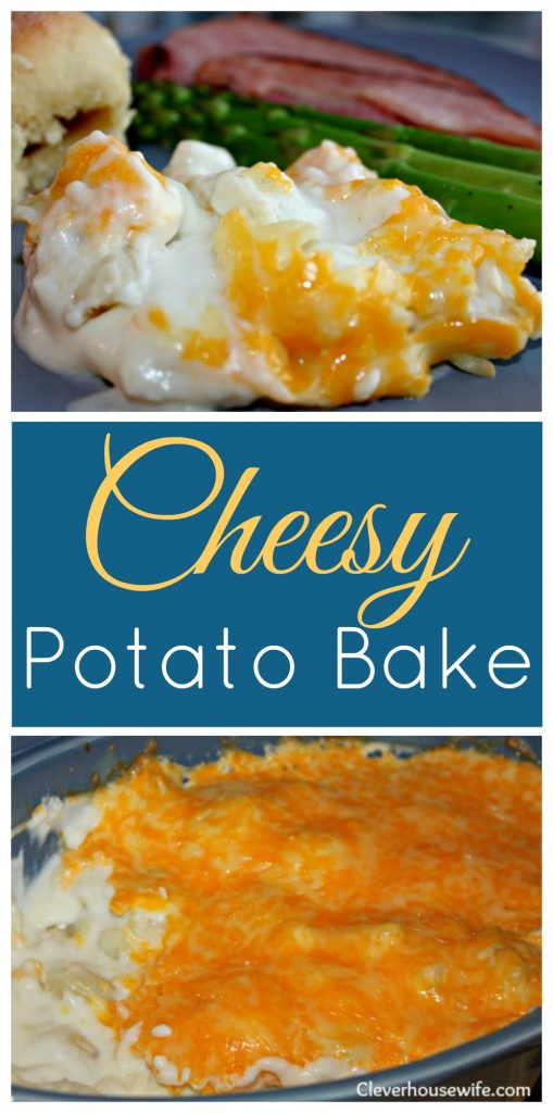 Cheesy Potato Bake - an excellent potato casserole that serves up as an elegant side dish for any holiday meal