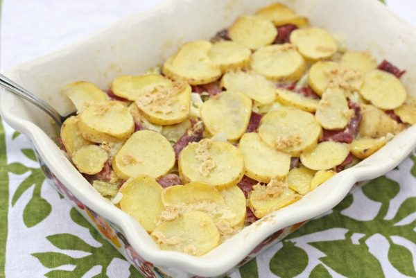 Irish Corned Beef and Potato Casserole - perfect for St. Patrick's Day dinner!