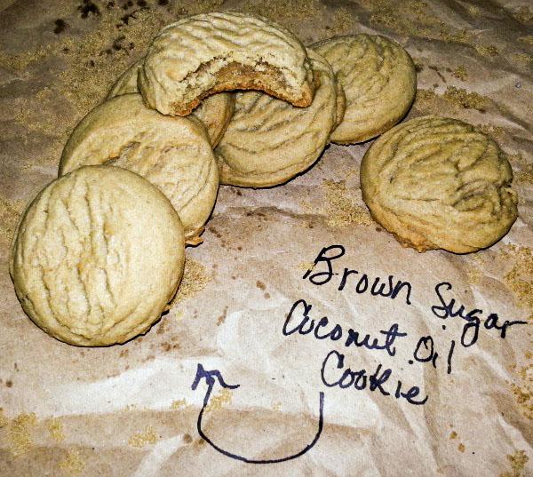 Brown Sugar Coconut Oil Cookies