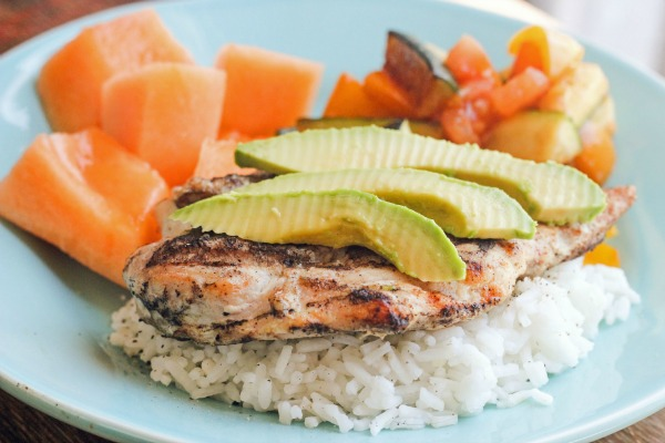 Grilled Chicken and Avocado + Tasty Allergy Free Food Options