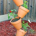 leaning flower pots 014