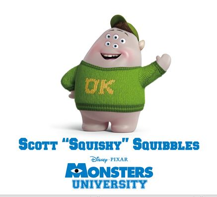 "Meet Squishy ""Peter Sohn"" from Monsters University #MonstersUEvent"