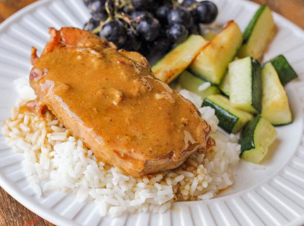 Slow Cooker Pork Chops with Dijon Sauce
