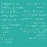 Printable Pantry Shopping List