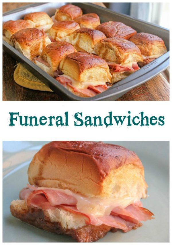 Funeral Sandwiches - that are so good they just might send you to the grave - if you eat too many! The best ham and cheese sliders out there. It's all in the sauce!