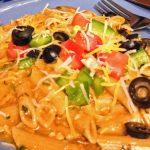 Easy Crock Pot Enchilada Pasta