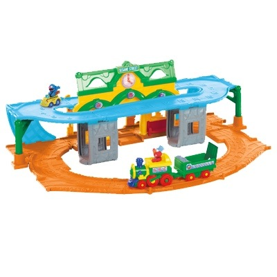 A New Take on Classic Toys with Poppin' Park Pop 'n Pick Up Elefun and Sesame Street Elmo Junction Train Set