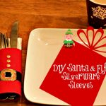 DIY Santa & Elf Silverware Sleeves