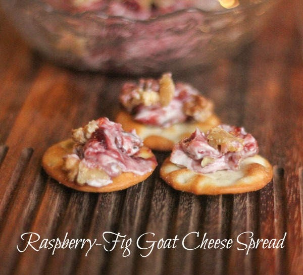 Raspberry-Fig Goat Cheese Spread