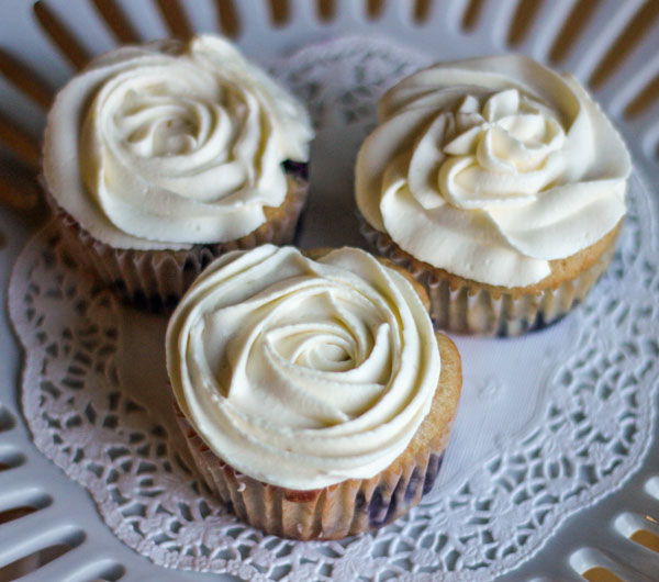 ... Blueberry Cupcakes with a Lemon Mascarpone Frosting - Clever Housewife