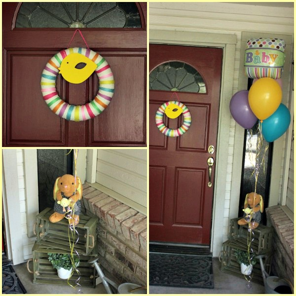 Diy front door decorating ideas floors doors for Baby shower front door decoration ideas