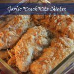 Garlic Ranch Ritz Chicken