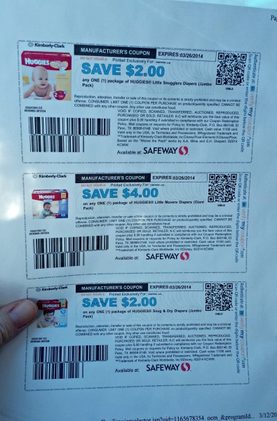 Manufacturer coupons for diapers