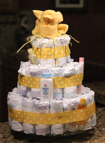 Captivating Baby Shower Diaper Cake Tutorial