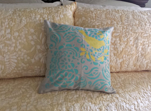 Easy DIY Painted Pillowcase