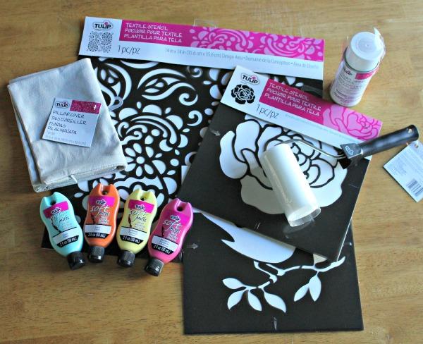DIY Painted Pillowcase Supplies