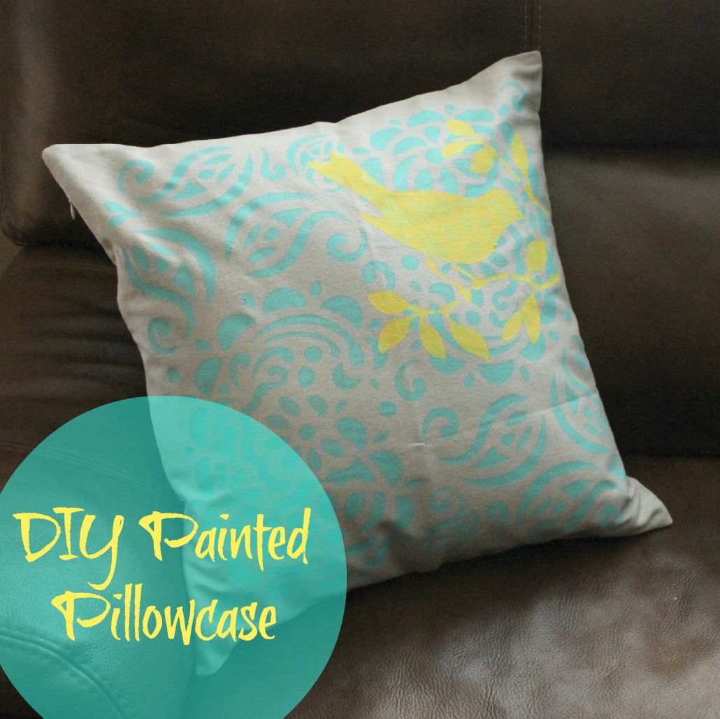 Diy Painted Pillow Cases: Easy DIY Painted Pillowcase   Clever Housewife,