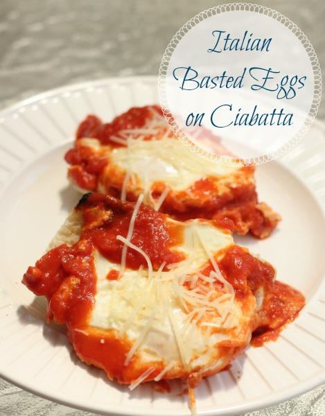 Italian Basted Eggs on Ciabatta