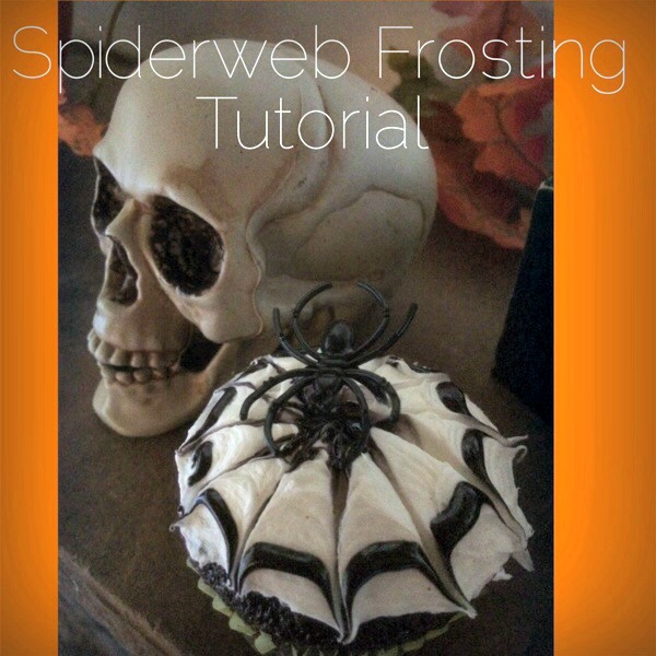 Easy Spiderweb Cupcakes: Frosting Tutorial For Cakes, Cookies & Cupcakes (You'll Be Shocked How Easy)