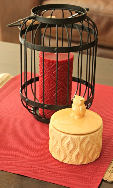 BHG Candles and Lantern